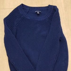 American Eagle Blue Knit Sweater